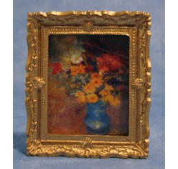 Schilderij, bloemen, ingelijst