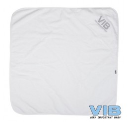 Badcape VIB My first Towel Wit+Zilver