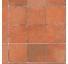 Terracotta tegelvloer met relief