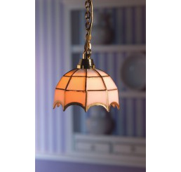 tiffany lamp met wit glas