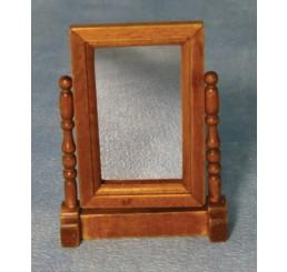Spiegel in eiken tafelstandaard
