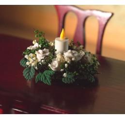 wit met groene tafel decoratie