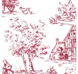 Poppenhuis behang Toile de Jouy