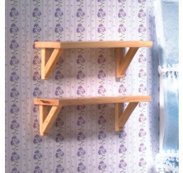Kleine wandplankjes, 2 stuks