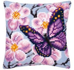 X-st Pakket kussen Paarse vlinder