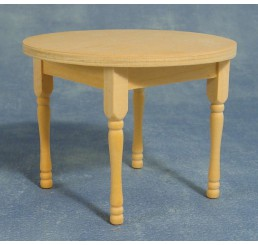 Tafel, rond, blank hout