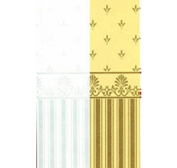 Behang Aqua/Cream