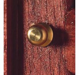 deurknop messing per 2 met schroefdraad