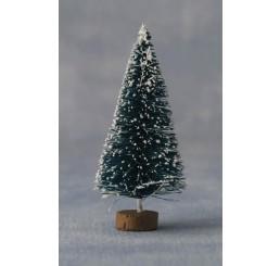 Kerstboom met sneeuw, 14cm