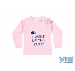 T-Shirt Roze I WOKE UP THIS CUTE