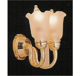 Wandlamp dubbele tulp