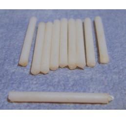 Kaarsen, wit, per 10 st.