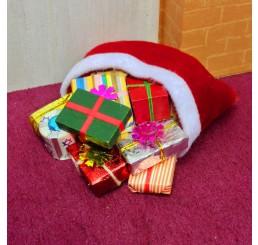 Zakje gevuld met cadeaus
