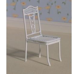 wit metalen stoel