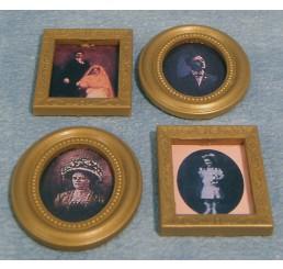 Schilderijtjes, klein, 4 stuks