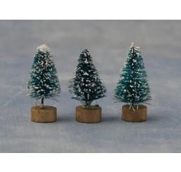 2 Kerstbomen met sneeuw
