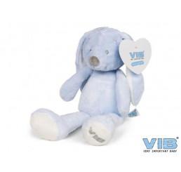 Pluche Konijn Groot 35cm 'Very Important Rabbit' Blauw