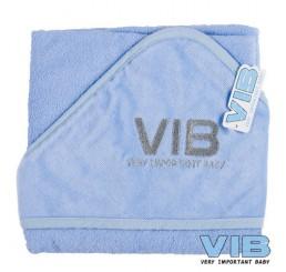 Badcape VIB Licht Blauw+Zilver