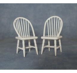 Witte stoelen, 2 stuks