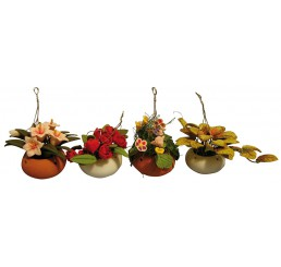 Hangplanten in schaal, per  stuk