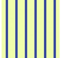 Poppenhuis behang donker blauw gestreept