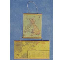 Landkaart, 2 stuks