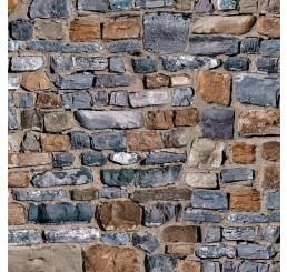 Oud stenen muurvel met relief
