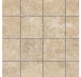 Kalkstenen vloer met relief