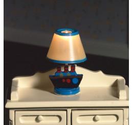Slaapkamerlamp, blauwe voet