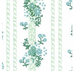 Poppenhuis behang, Georgina blauw