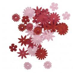 Papieren bloemen rood