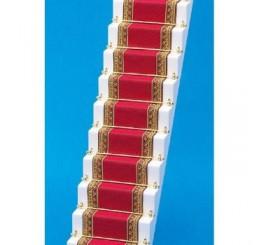 Traploper, rood met goud,  5 x 50 cm (b x l)