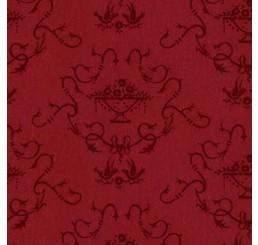 Poppenhuis behang, rood