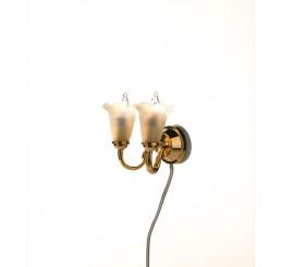 dubbele wandlamp tulp model