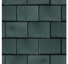 Donkere dakpannen met relief