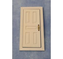 Witte deur met 5 Panelen