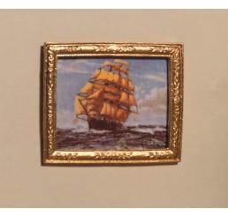 schilderij met schip op zee