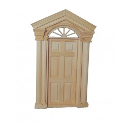Luxe voordeur met ramen aan bovenkant