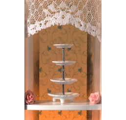 Witte etagere