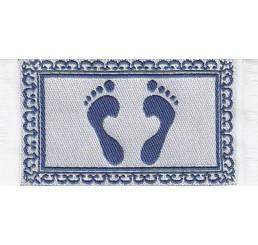 Badkamer mat met voetprint