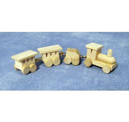 blank houten treintje