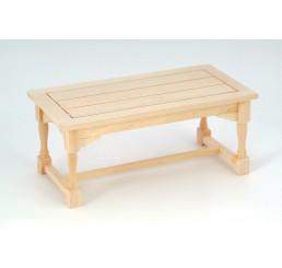 Eetkamer tafel, blank hout