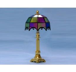 Tiffany tafellamp, gekleurd