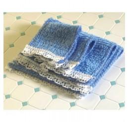 Blauwe handdoekenset