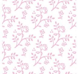 Poppenhuis behang Julia, wit met roze