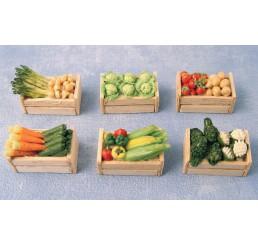 Groenten in krat, 6 stuks