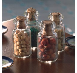 4 gevulde glazen potten