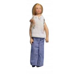 Moderne vrouw in jeans
