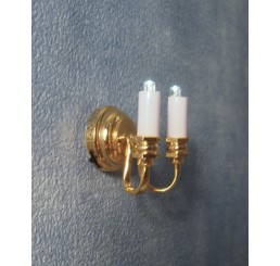 dubbele wandlamp kaarsmodel LED