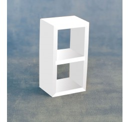Wit opberg meubel, 2 vakken